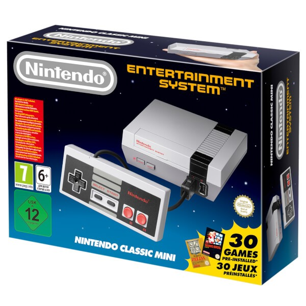 Nintendo Classic Mini: Nintendo Entertainment System + 30 игр в комплекте
