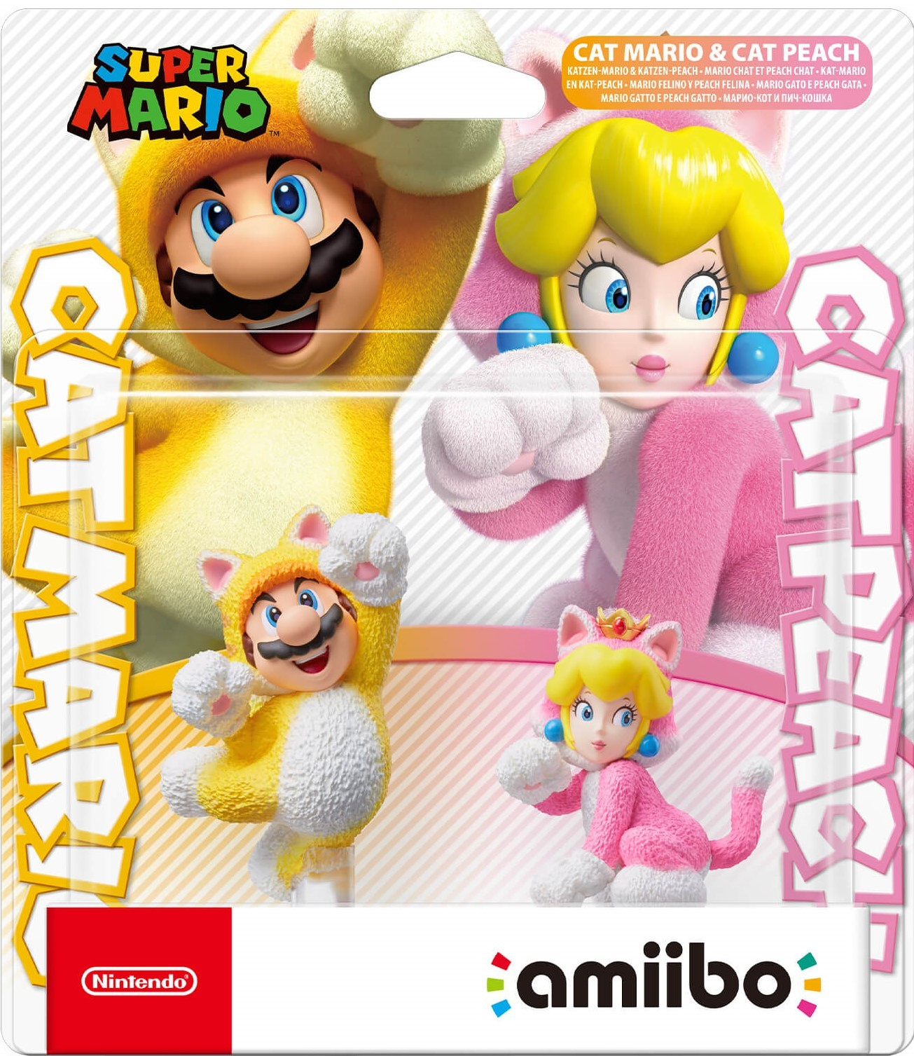 Super Mario Series: Інтерактивна фігурка amiibo - Cat Mario and Cat Peach