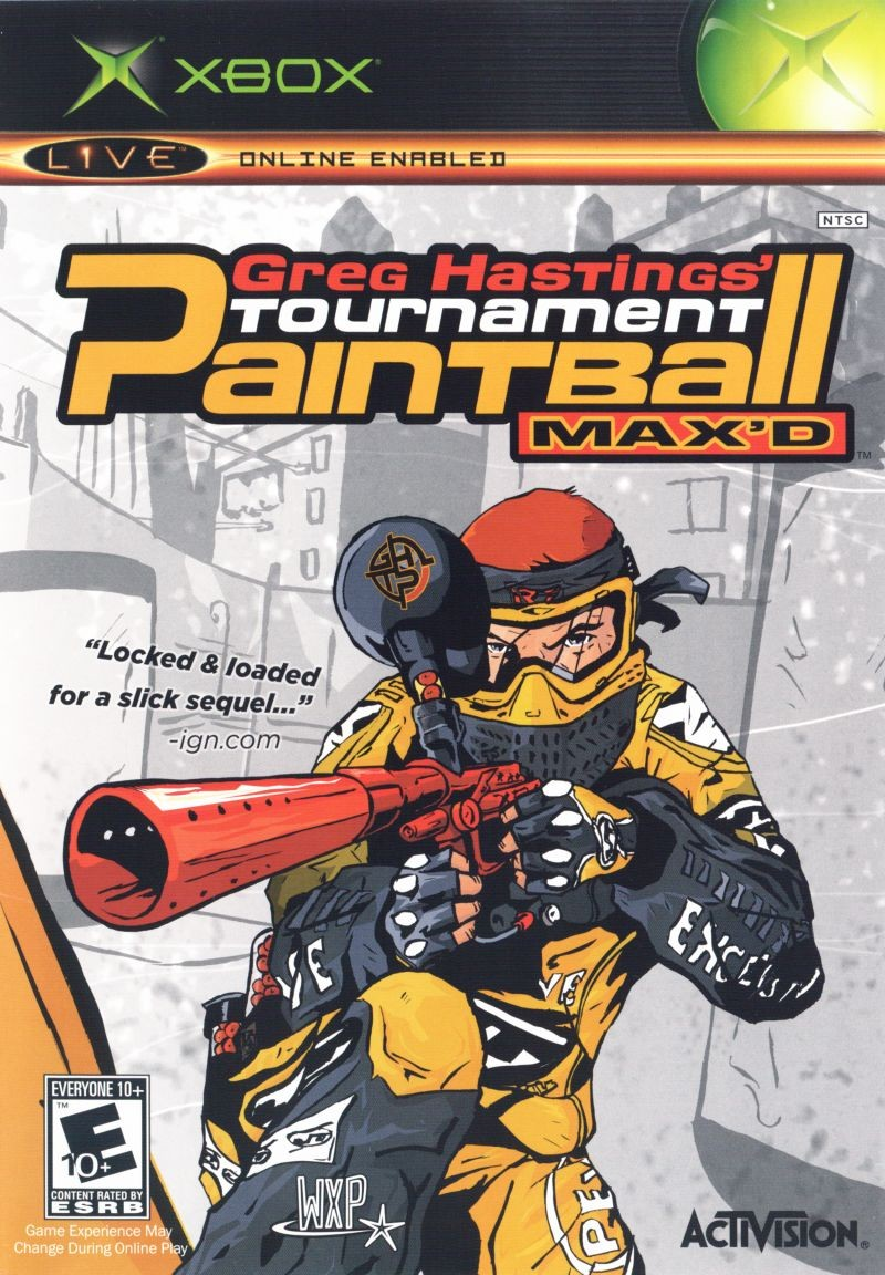 Greg Hastings Tournament Paintball MAX'D б/в XBOX