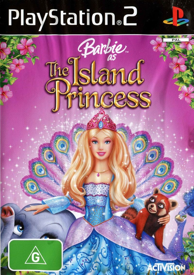 Barbie as The Island Princess б/в PS2