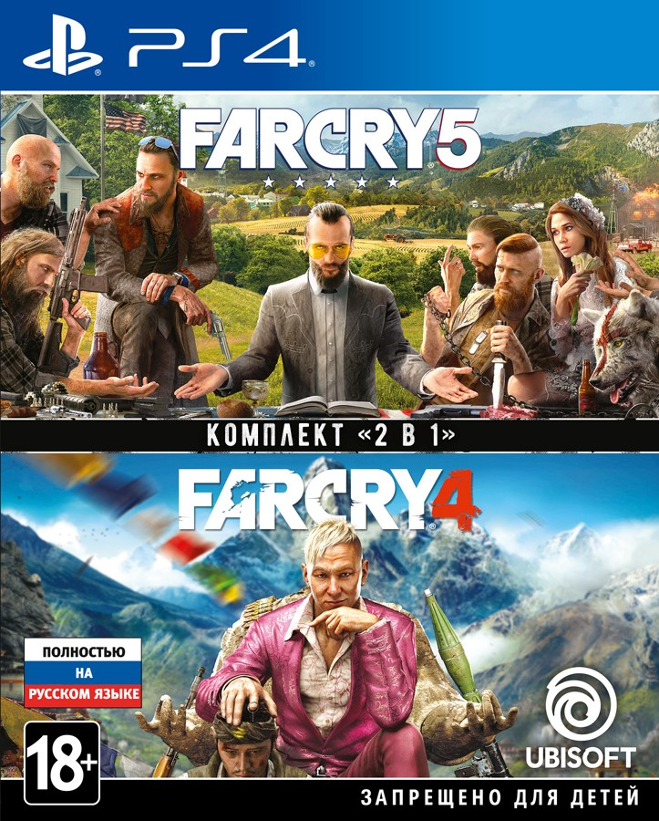 Комплект ігор Far Cry 4 + Far Cry 5 PS4