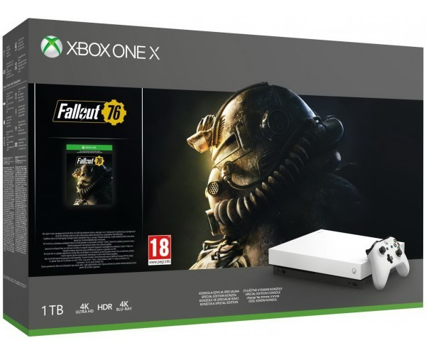 Microsoft Xbox One X Robot White Special Edition 1TB + Fallout 76 (код)