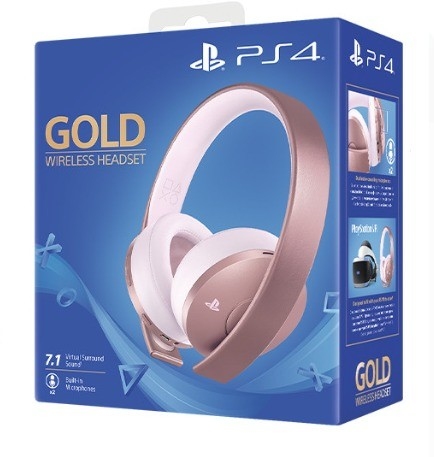 Беспроводная гарнитура Wireless Stereo New Gold (Rose Gold) PS4