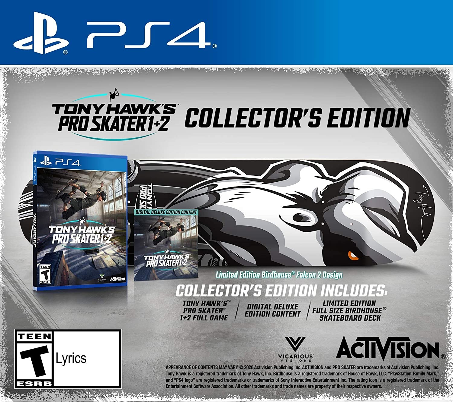 Tony Hawk's Pro Skater 1 + 2 Collector's Edition PS4