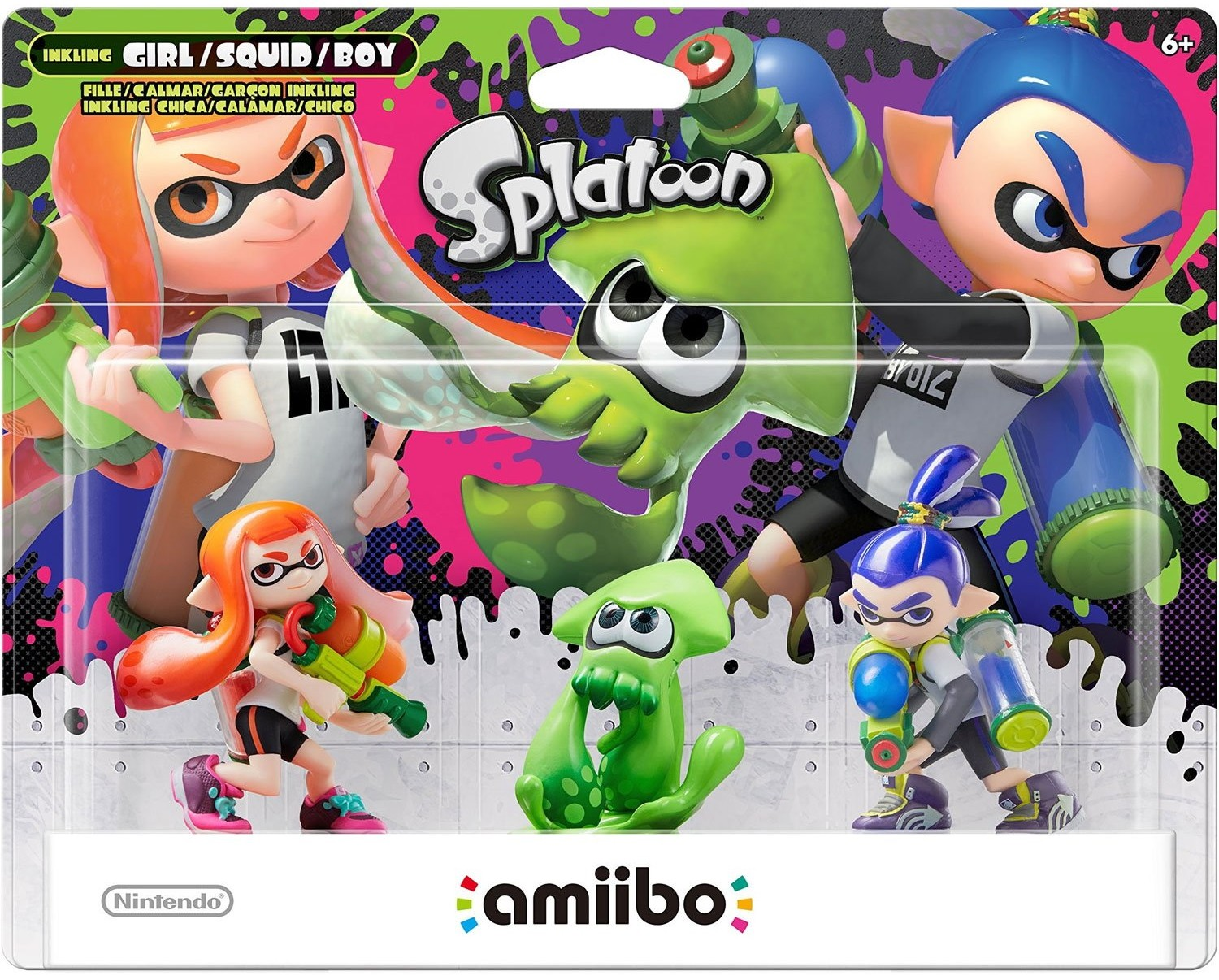 Splatoon Series: Інтерактивна фігурка amiibo – Inkling Girl Inkling Squid Inkling Boy [Splatoon 3-pack]