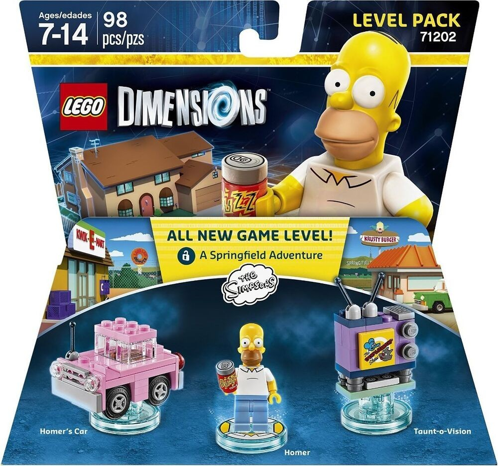 LEGO Dimensions Level Pack The Simpsons (Homer's Car, Homer, Taunt-o-Vision) | LEGO Виміри
