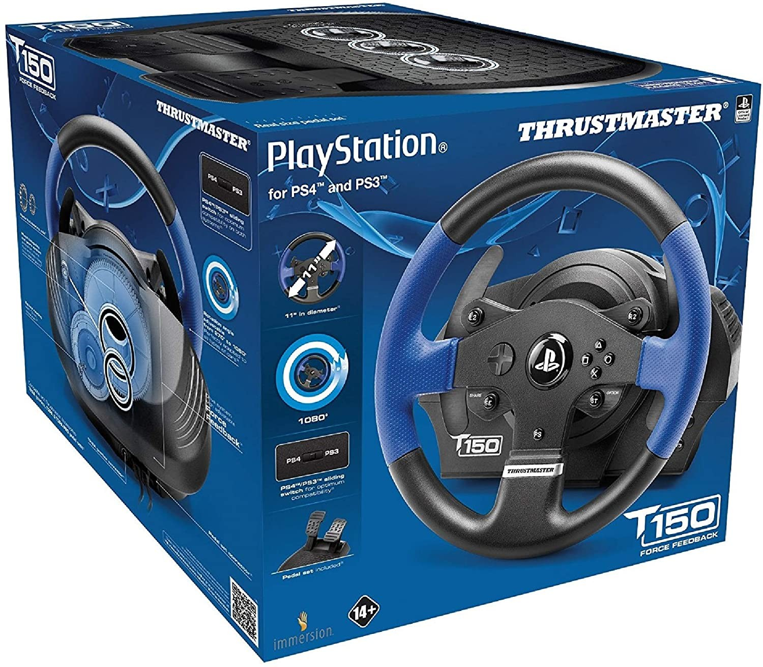 Руль Thrustmaster T150 Racing Wheel PS3/PS4 Black