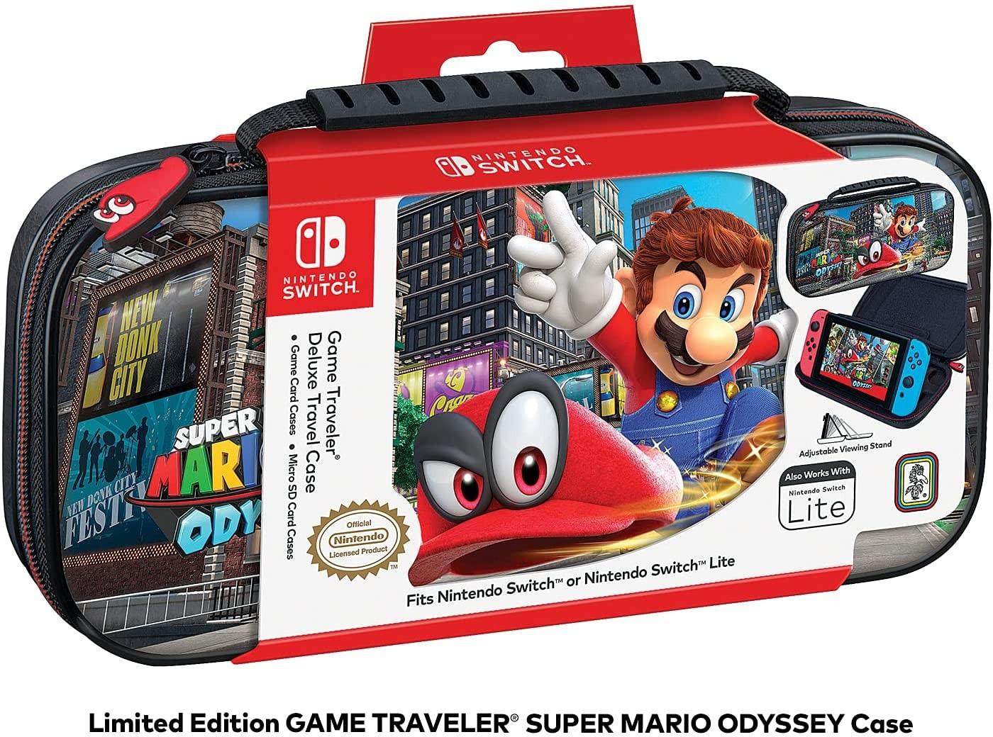Чехол защитный Deluxe Travel Case Super Mario Odyssey для Nintendo Switch / Lite