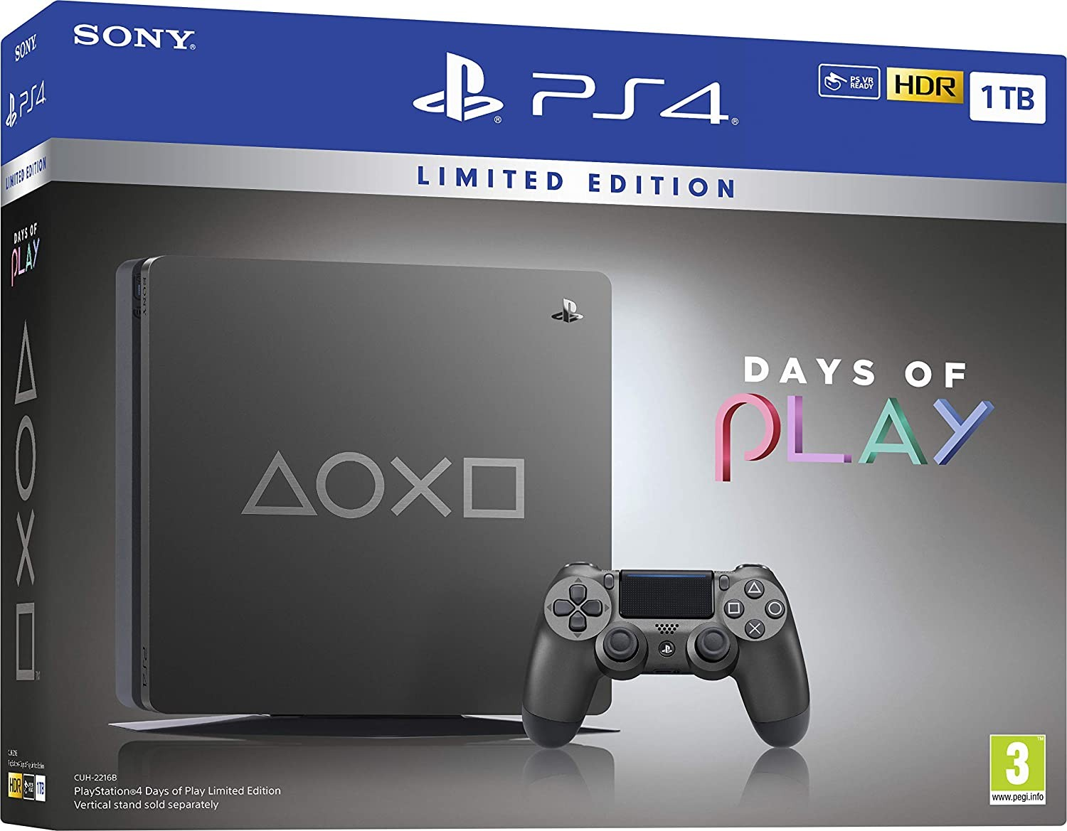 Sony PlayStation 4 Slim 1TB Days of Play Limited Edition Steel Black 1TB PS4