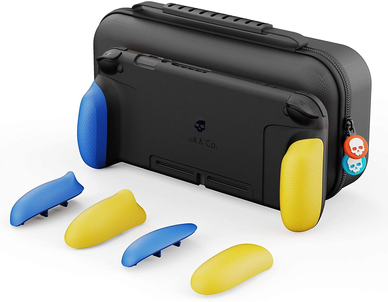 Змінні накладки-рукоятки Skull & Co. Сумка. A Dockable Protective Case with Replaceable Grips Neon Yellow & Blue Fortnite Edition для SWITCH Неоново-жовтий і Синій