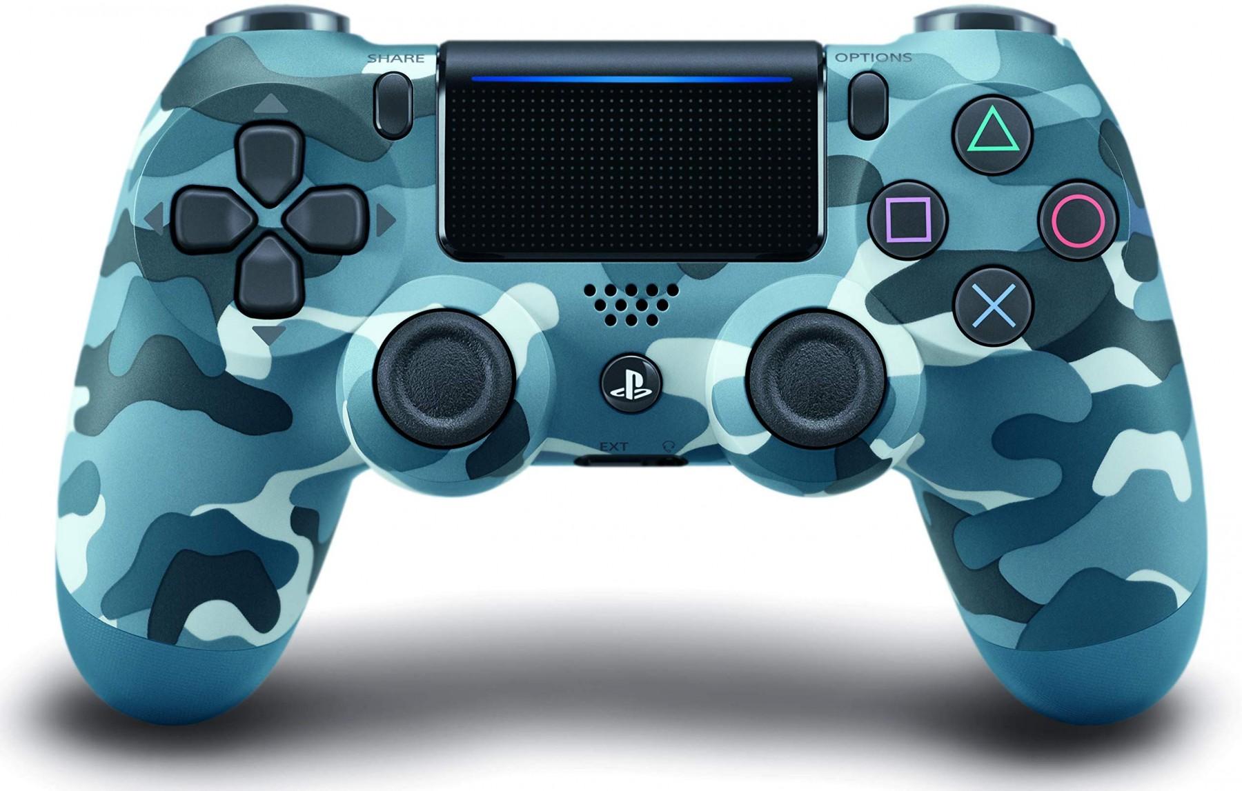 Беспроводной контроллер/джойстик/геймпад DualShock 4 Wireless Controller Blue Camouflage V2