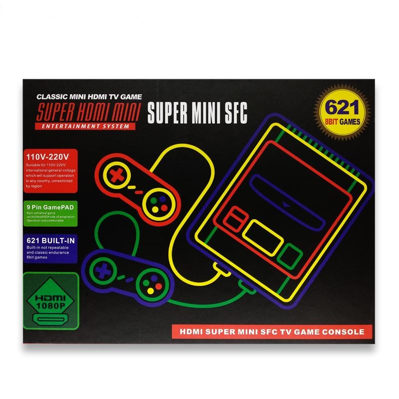 Super Mini SFC NES Classic Entertainment TV Video Game Console HDMI Built in 621