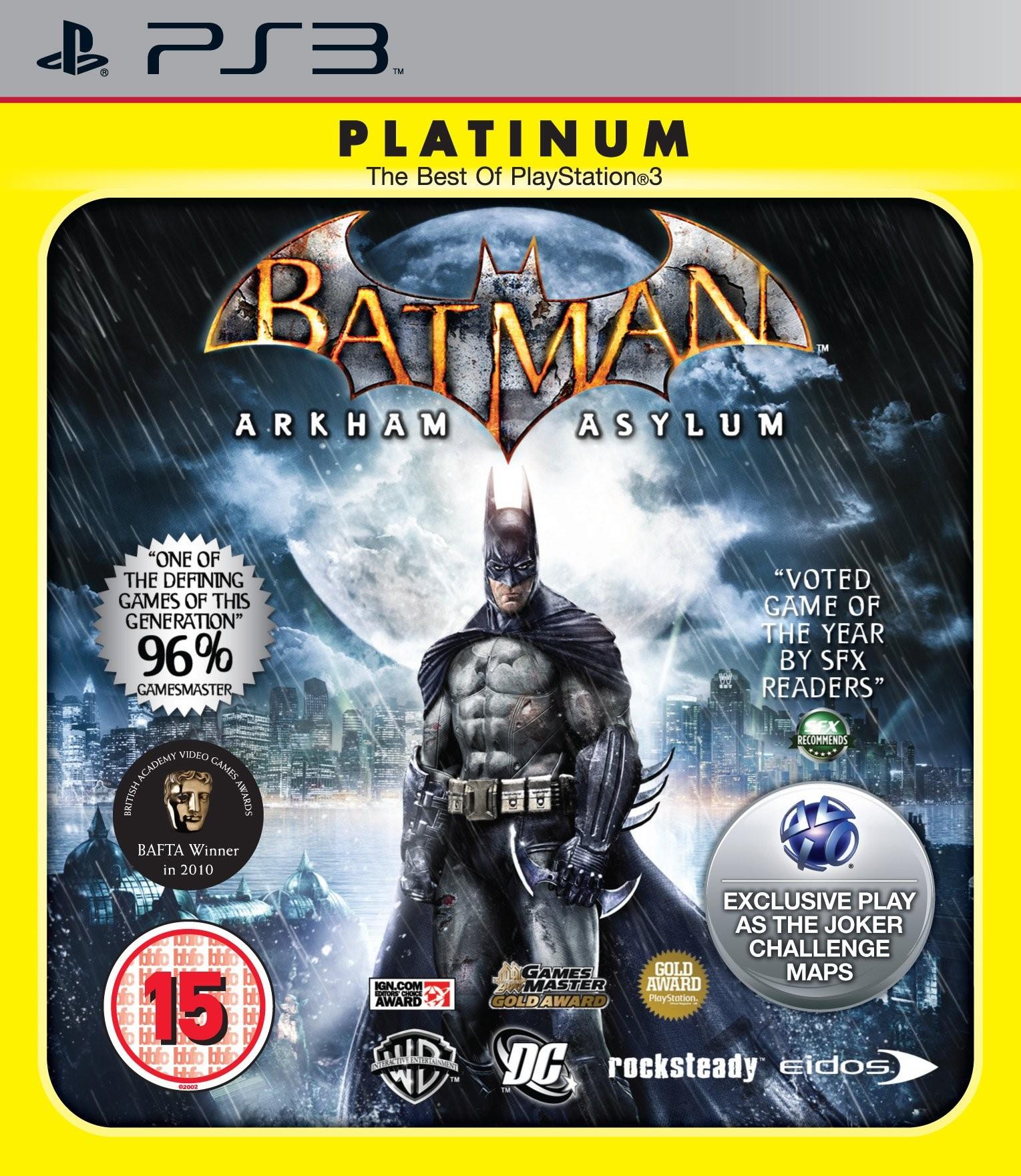 Batman: Arkham Asylum. Platinum б/в PS3