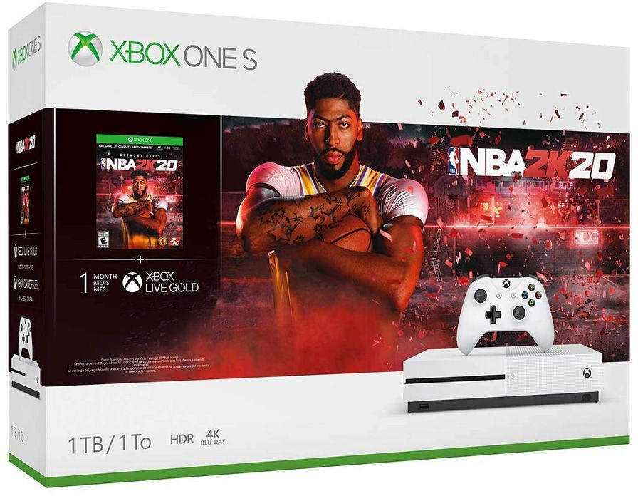 Microsoft Xbox One S 1TB White + NBA 2K20 (код) XONE