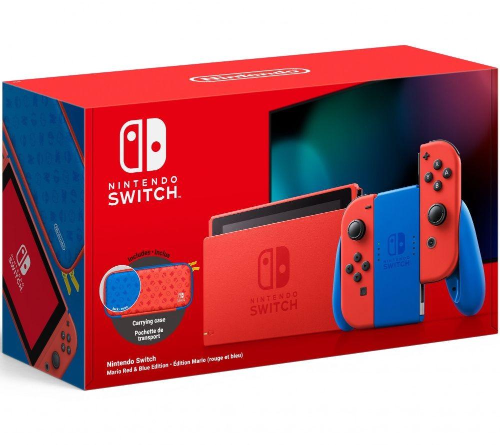 Игровая консоль Nintendo Switch Mario Red & Blue Edition 32GB (Новая ревизия) SWITCH
