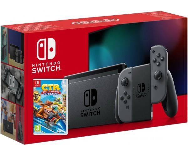 Ігрова консоль Nintendo Switch (сірий) HAC-001 (-01) (Нова ревізія) + Crash Team Racing Nitro-Fueled SWITCH