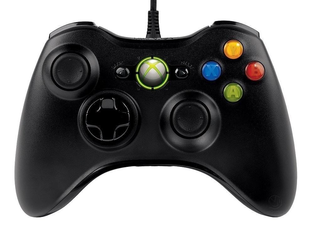 Дротовий контролер/джойстик/геймпад Microsoft Xbox 360 Wired Controller Black б/в