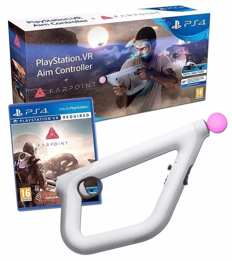 PlayStation VR Aim Controller + Farpoint | Контролер/джойстик/геймпад б/в (тільки для VR)