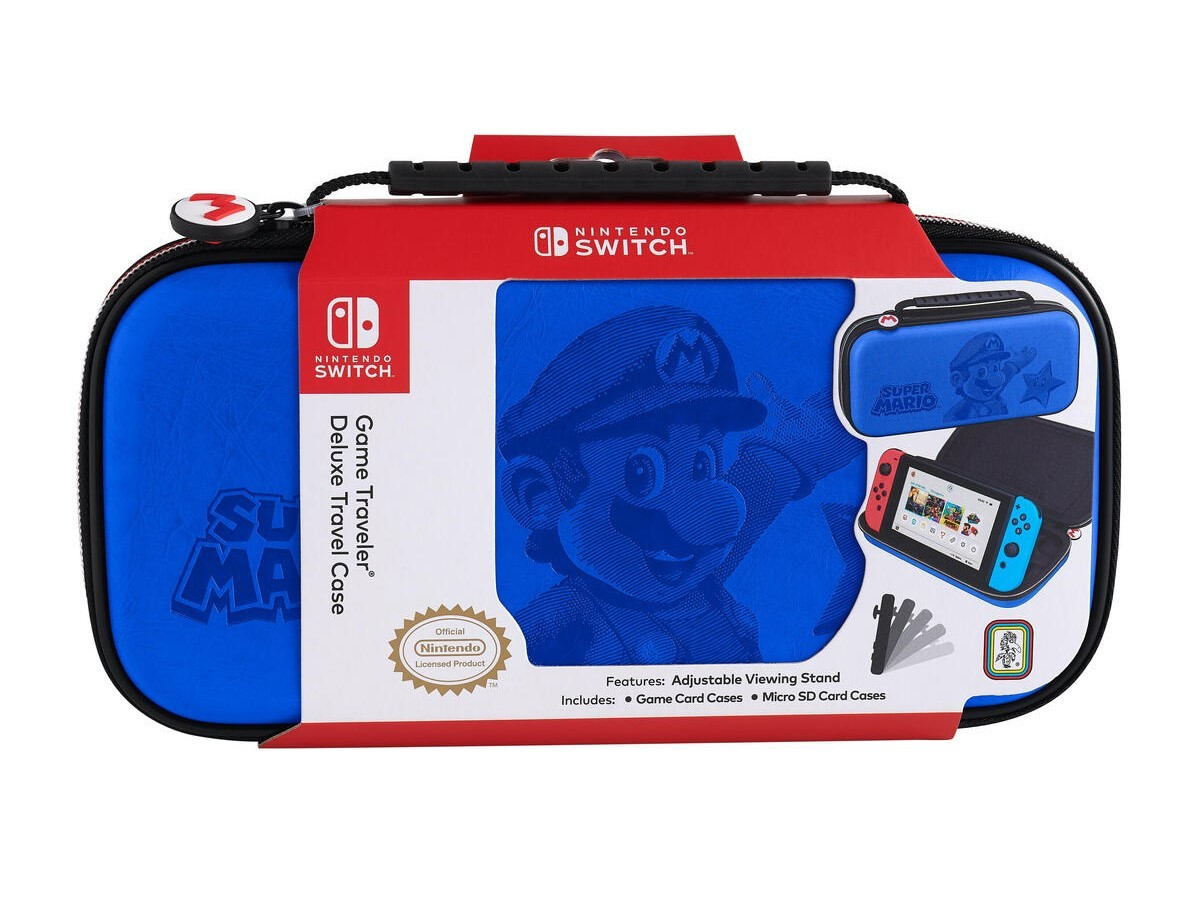 Чехол защитный Deluxe Travel Case Super Mario (Blue) для Nintendo Switch