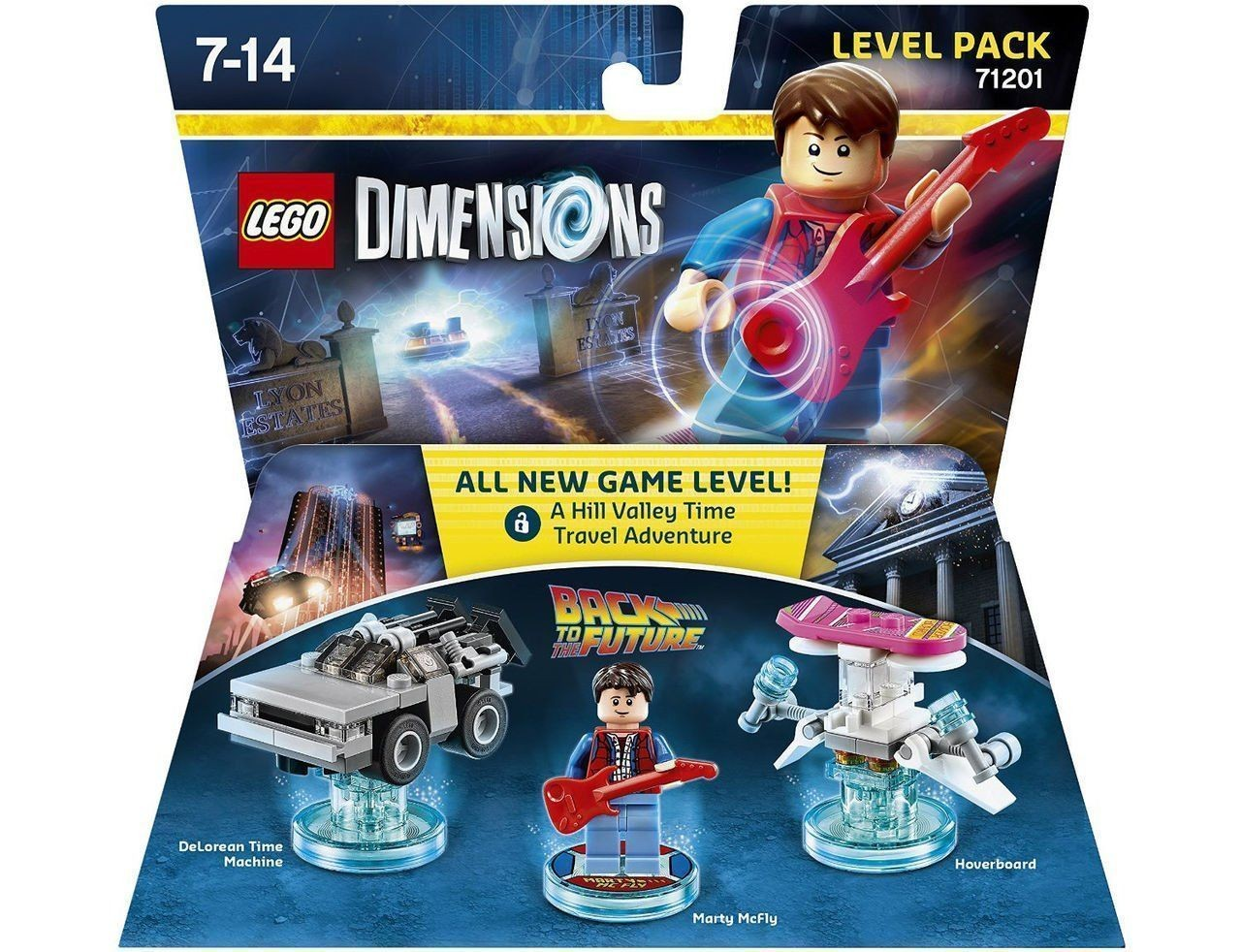 LEGO Dimensions Level Pack Back to the Future (DeLorean Time Machine, Marty McFly, Hoverboard) | LEGO Виміри