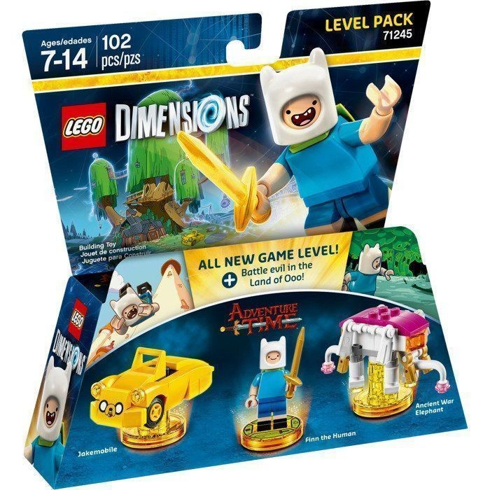 LEGO Dimensions Level Pack - Adventure Time (Jakemobile, Finn The Human, Ancient War Elephant) | LEGO Виміри