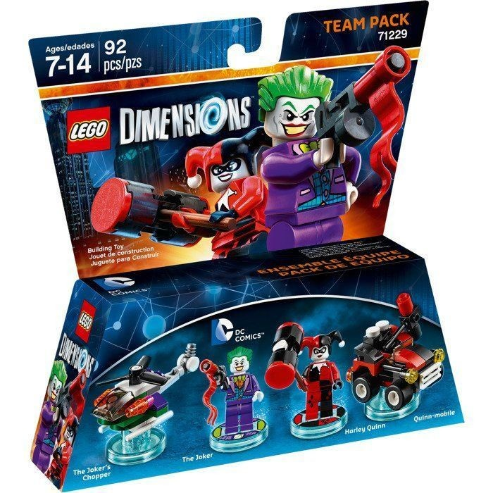 LEGO Dimensions Team Pack - DC Comics (The Joker's Chopper, The Joker, Harley Quinn, Quinn-Mobile) | LEGO Виміри