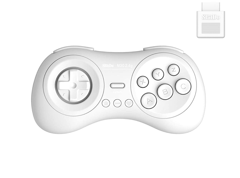 8BitDo M30 2.4G Gamepad for SEGA Mega Drive | 8BitDo M30 2.4G беспроводной контроллер/джойстик/геймпад (белый)