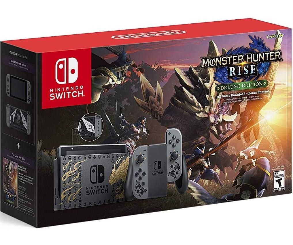 Ігрова консоль Nintendo Switch Monster Hunter Rise Deluxe Edition (сірий) HAC-001 (-01) (Нова ревізія) + SWITCH
