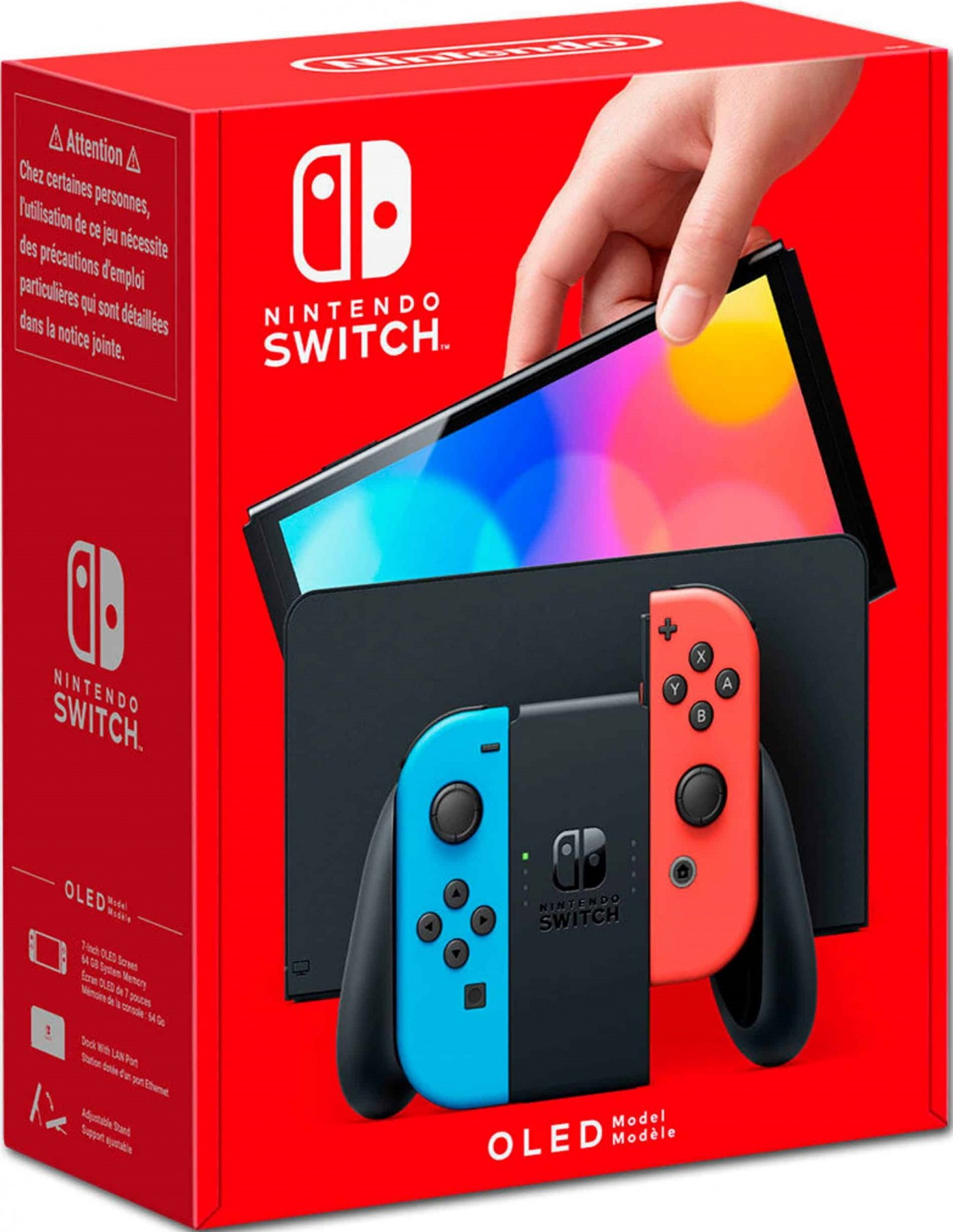 Ігрова консоль Nintendo Switch Neon Red & Neon Blue (OLED-модель) (неоновий червоний / неоновий синій)
