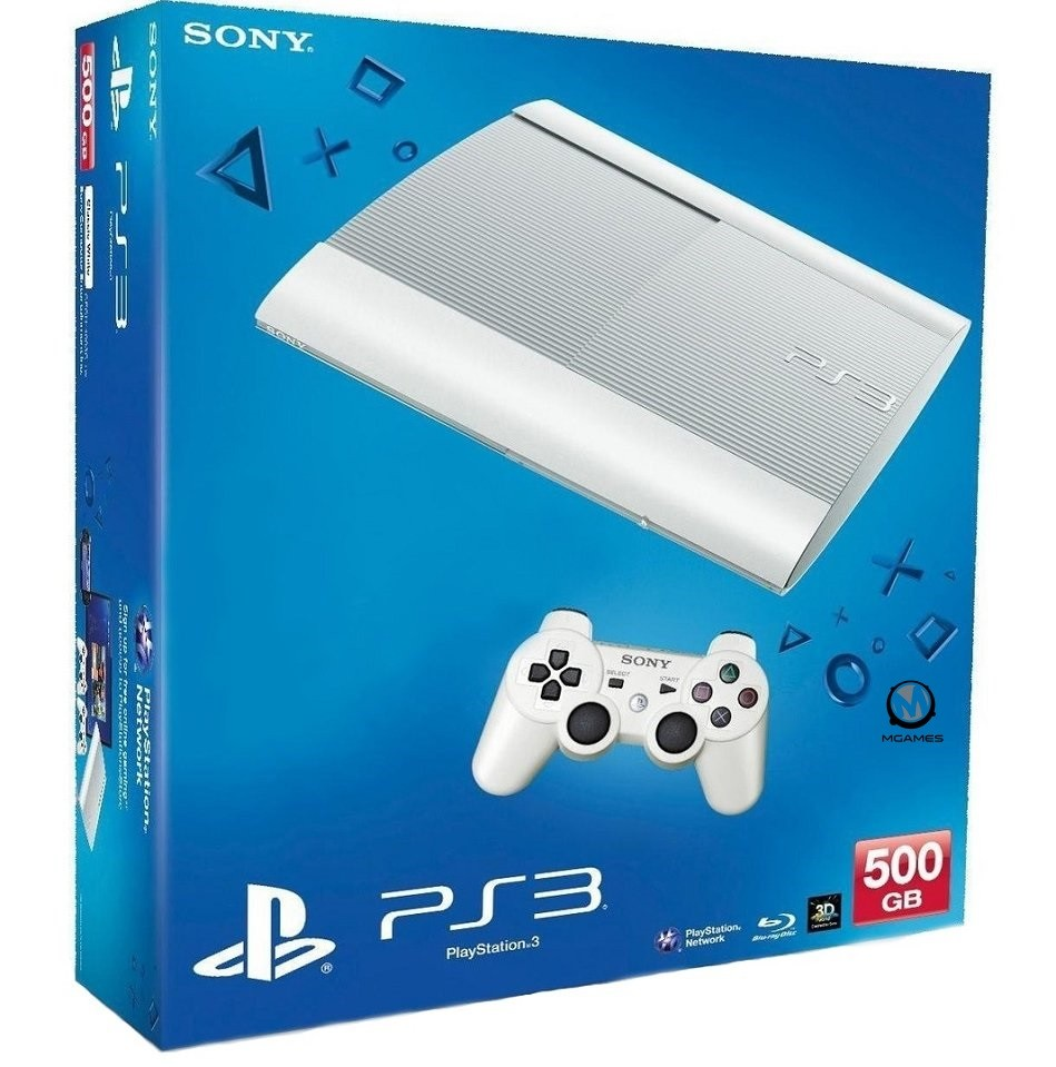Sony PlayStation 3 Super Slim 500GB White | PS3 Super Slim