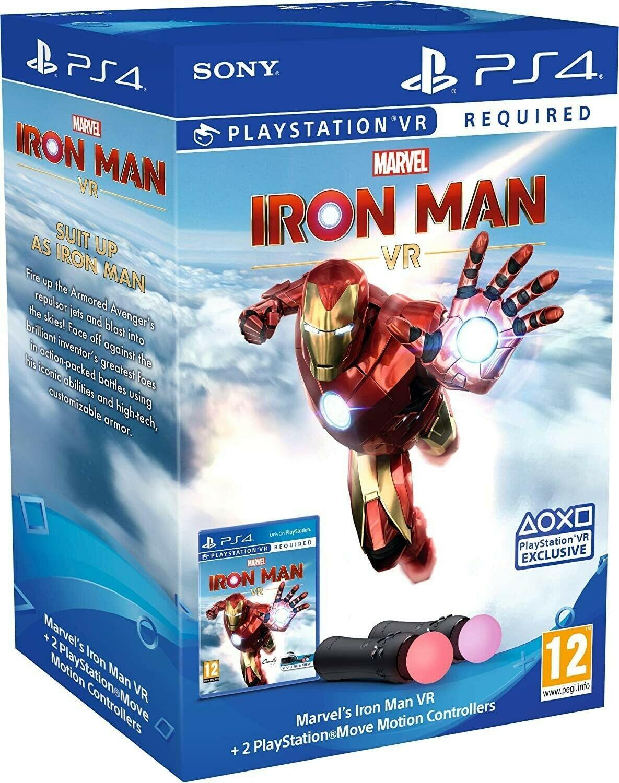 Move Motion Controller Marvel's Iron Man Bundle | Контролер/джойстик/геймпад рухів | Залізна людина (тільки для VR) PS4