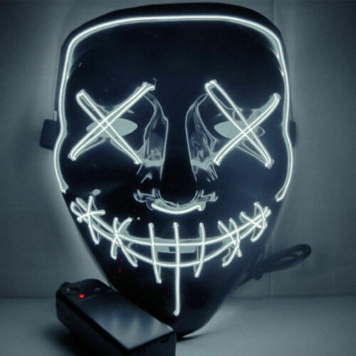 Маска Судная ночь для Хеллоуина светодиодная в ассортименте | Halloween LED Glow Mask The Purge Movie Cosplay Costume Party