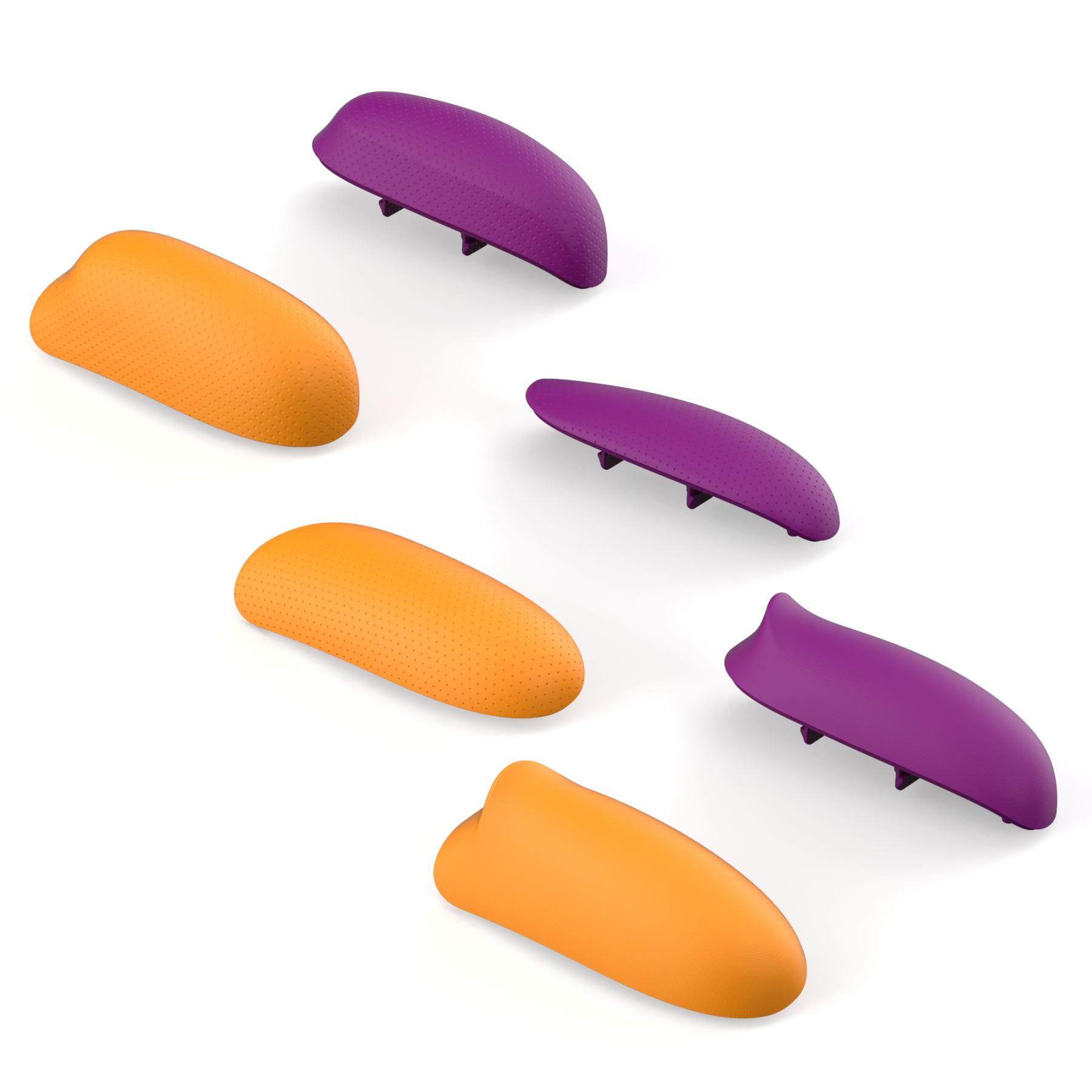 Змінні накладки-рукоятки Skull & Co. Grip Set For GripCase Neon Purple + Orange для SWITCH