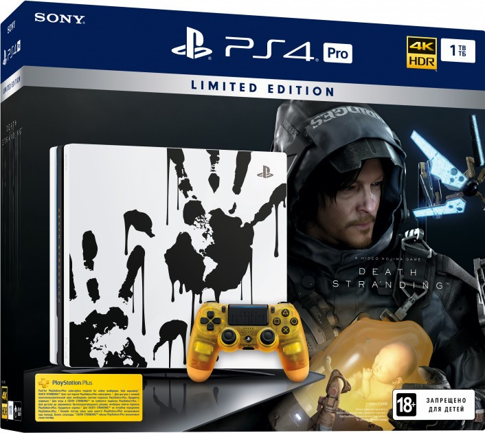 Sony PlayStation 4 Pro 1TB Limited Edition Death Stranding White (белая)