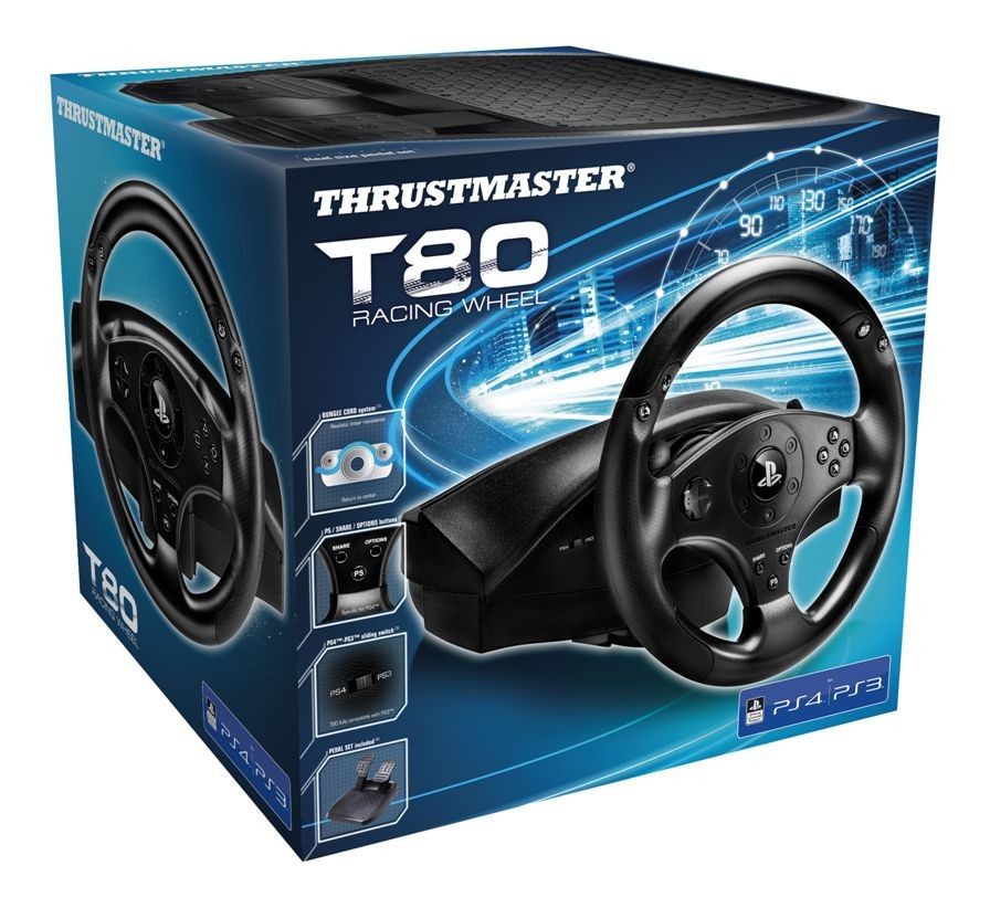 Кермо Thrustmaster T80 Racing Wheel PS3/PS4 Black