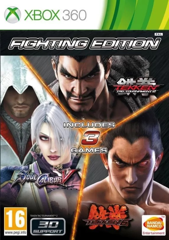 Fighting Edition (Tekken 6 + SoulCalibur 5 + Tekken Tag Tournament 2) X360